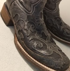 Vintage Corral Cowgirl Python Snakeskin Boots NWT